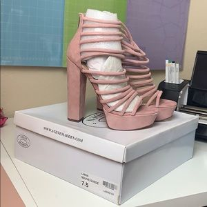 Steve Madden Liana Mauve Suede heels